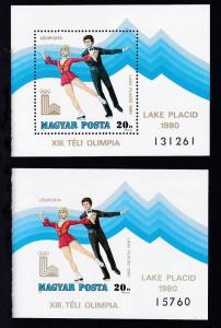 Olypische Winterspiele Lake Placid 1980, Block A und B **