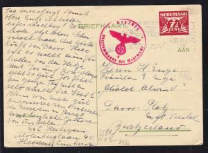 Taube 7½  C. auf Postkarte ab Heerlen 26.VI.1941 nach Davos/Schweiz