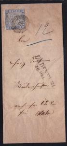 Wappen 3 Kr. auf Brief des Amtsgericht Ladenburg mit Nummernstempel 78 +