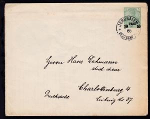 Germania 5 Pfg. mit Aufdruck 10 PARA 10 mit K1 JERUSALEM *a 29.12.05