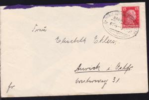 HANNOVER-WEETZEN-HASTE BAHNPOST Zug 665 23.11.27 auf Brief,