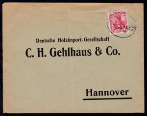 HAMBURG-OSNABRÜCK BAHNPOST ZUG 712 27.3.14 auf Firmen-Antwortbrief