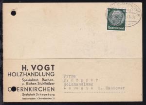 BERLIN-HANNOVER BAHNPOST Zug 215 7.11.38 auf Firmenpostkarte