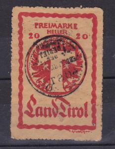 Paketkontrollmarke 20 H.