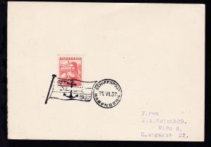 SCHIFFSPOST BABENBERG 11.VI.37 1837 1937 D.D.S.G. auf Sammler-Postkarte