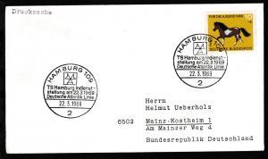HAMBURG 109 2 TS Hamburg Indienst-stellung am 22.3.1969 Deutsche Atlantik Linie