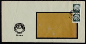 Meppen 1936 Fensterbrief (Langformat) des Vorstand der linksemsischen