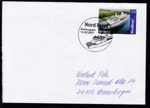 K1 Nord Brief Erstausgabe 14.02.2007 auf Brief, Stempel und Marke mit Abbildung