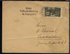 3 Fr. Volksabstimmung auf Bf. mit Maschinen-Stpl.