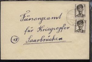 3 Fr. 2x auf Bf. ab Homburg 07.5.48 nach Saarbrücken
