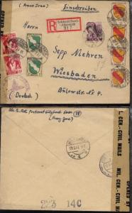 210 + 2x 214 + FRZ 2x 1 + 4x 4 auf R-Bf. ab Sulzbach 12.3.47 nach Wiesbaden