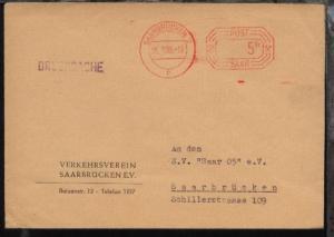 PSF SAARBRÜCKEN 2 c 25.1.55 (5 Fr.) auf Drucksache des Verkehrsverein