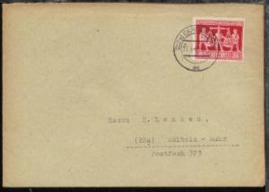 Hannovermesse 24 Pfg. auf Bf. ab Duisburg 21.6.48 nach Mülheim/Ruhr,
