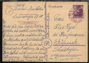 6 Pfg. mit viol. Stpl. BERLIN-NEUKÖLLN d 27.2.46 nach Wülperode