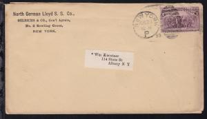 Columbus 2 C. auf Firmenbrief (North German Lloyd S.S. Co. New York) ab New York