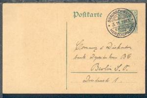 Braunschweig SSt. BRAUNSCHWEIG EINZUG DES HERZOGPAARES 3.11.1913 auf GSK