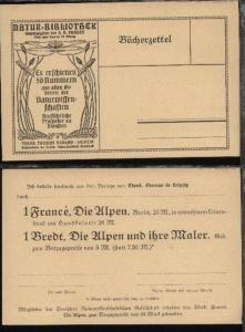 Leipzig Bücherzettel der Theod. Thomas Verlag Leipzig