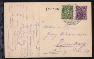 Berlin Sonderstempel BERLIN W 62 POSTWERTZEICHENAUSSTELLUNG 1922 22.10.22