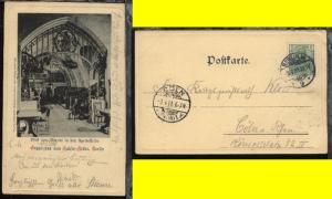Berlin OSt. BERLIN W 9 3.4.01 auf AK (Gruss aus dem Kaiser-Keller) nach Cöln