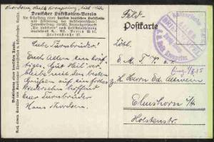 (1.8.15) Steg-K1 Kaiserliche Marine A.1.I.W.D. Zweig-Komp. S.M. Hulk Kronprinz