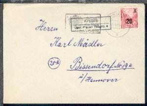 Krebes über Plauen (Vogtl) 4 (R2) + OSt. Plauen 13.9.55 auf Bf.