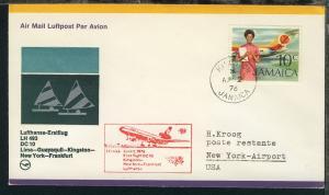 Lufthansa Erstflugbrief Kingston-New York 2.4.1976