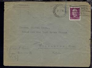 D. BREMEN N.D.L. DASP BREMEN-NEW YORK 17.7.29 auf Bf. nach Milwaukee/USA,