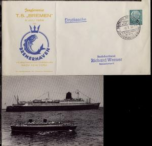 DSP BREMEN-NEW YORK TS BREMEN NDL JUNGFERNREISE 9.-28.7.1959 9.7.59