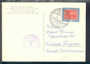 DSP BREMEN-NEW YORK TS BREMEN NDL JUNGFERNREISE 9.-28.7.1959 14.7.59 auf AK