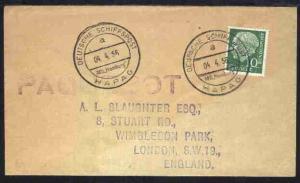 DSP BREMEN-NEW YORK TS BREMEN NDL JUNGFERNREISE 9.-28.7.1959 14.7.59 blanko