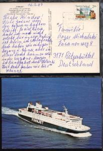 HELSINKI-TRAVEMÜNDE FINNJET 17.2.87 auf CAK des Schiffes, Bedarf