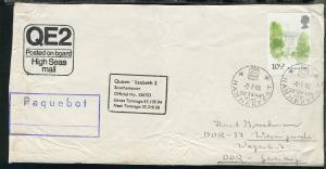 1976/80 RMS Queen Elizabeth 2 16 Belege mit diversen Stpln und Cachets