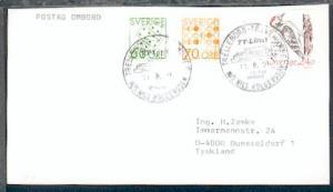 TRAVEMÜNDE-TRELLEBORG M/S NILS HOLGERSSON TT-Line POSTAD OMBORD 11.8.91 auf Bf.