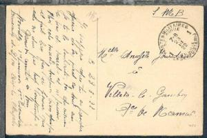 POSTES MILITAIRES BELGIQUE 1 23.III.22 auf CAK (Aachen) aus Aachen nach Belgien