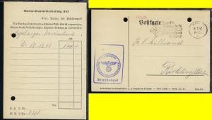 Maschinen-Stpl. Kiel 24.1.42 + BfSt. Marinestandortverwaltung Kiel