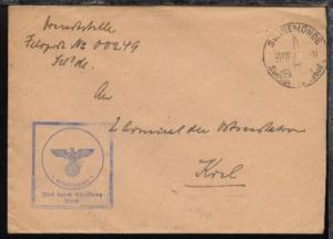 Orts-Werbe-Stpl. Swinemünde 25.11.39 + BfSt. ohne Nr. auf Dienst-Bf.,