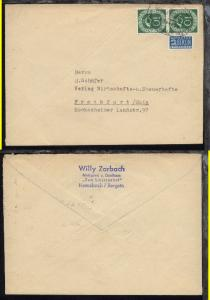 BASEL-FRANKFURT (M) b ZUG 1903 21.4.54 auf Firmen-Bf.