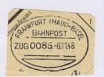 FRANKFURT(MAIN)-BASEL ZUG 0085 6.11.48 auf Bf.-Stück