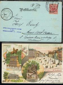 M.GLADBACH-HOMBERG (RHEIN) ZUG 435 22.4.99 (über Rand) auf CAK