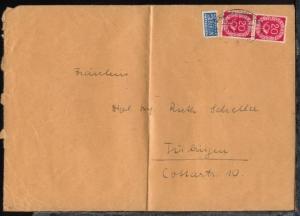 MÜNCHEN-GARMISCH a ZUG 01337 12.9.51 auf Bf. (Format C5), Bf. Mittelbug