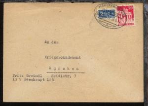 MÜNCHEN-KOCHEL a ZUG 01417 26.8.49 auf Bf.