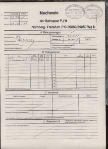 NÜRNBERG-FRANKFURT AM MAIN a ZUG 39050 11.3.96 +