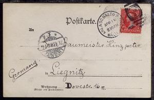 ARL. & SO. BALTO. R.P.O. BALTO. MD. APR 10 1903 CAR 2 (Duplex-Stpl.) auf Foto-AK