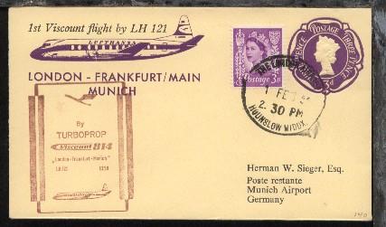 Lufthansa-Erstflug-Bf. London-München 1.2.1959 0
