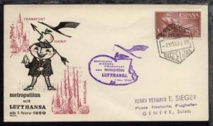 Lufthansa-Erstflug-Bf. Barcelona-Genf 2.11.1959