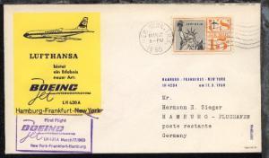 Lufthansa-Erstflug-Bf. New York-Hamburg 17.3.1960