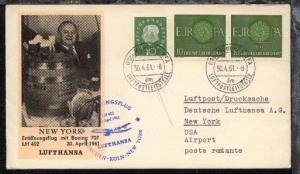 Lufthansa-Erstflug-Bf. München-New York 30.4.1961