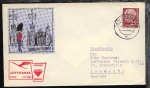 Lufthansa-Erstflug-Bf. Bremen-London 1.11.1961