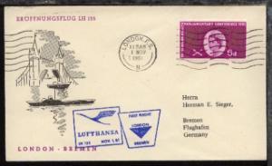 Lufthansa-Erstflug-Bf. London-Bremen 1.11.1961