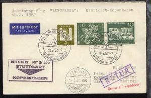 Lufthansa-Erstflug-Bf. Stuttgart-Kopenhagen 18.2.1962